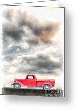 Old Red Ford Pickup Greeting Card