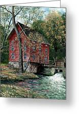 Old Time Mill Greeting Card