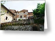 Old Towns Of Tuscany San Gimignano Italy Greeting Card