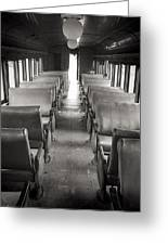 Old Train Seats Greeting Card