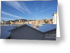 Old Village Sestri Levante Greeting Card