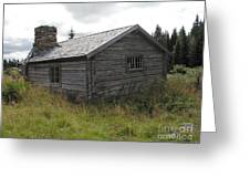 Old Wooden Cabin  Greeting Card