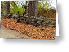 Old Wooden Fence Greeting Card