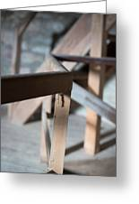 Old Wooden Stairs Greeting Card