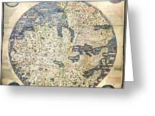 Old World Vintage Map Greeting Card