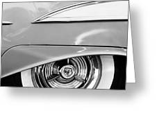 Oldsmobile 98 Wheel Emblem Greeting Card