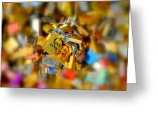 One Life One Love Padlock Greeting Card