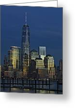 One World Trade Center At Twilight Greeting Card