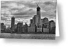 One World Trade Center Bw Greeting Card