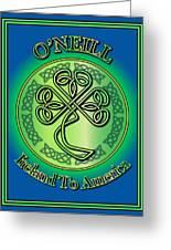 O'neill Ireland To America Greeting Card