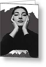 Opera Singer Maria Callas  Cecil Beaton Photo No Date-2010 Greeting Card