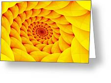 Yellow Pillow Vortex Greeting Card