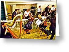 Orchestra Tuning Up In The Pit In Hermitage Theatre In Saint Petersburg-russia  Greeting Card