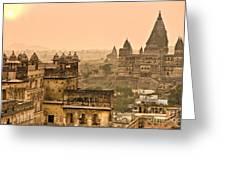 Orchha's Palace - India Greeting Card