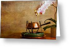 Orchid And Copper Fondue Greeting Card