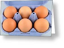 Organic Eggs Greeting Card