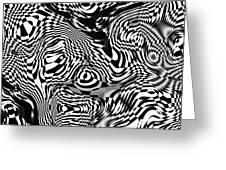 Organic Optical Illusion 1 Greeting Card by The Art of Marsha Charlebois