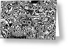 Organic Optical Illusion 7 Greeting Card by The Art of Marsha Charlebois