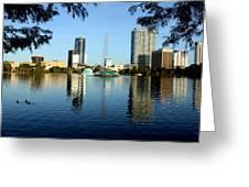 Orlando Fl Skyline Greeting Card