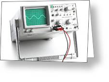 Oscilloscope Greeting Card