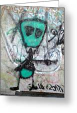 Other People's Art - Graffiti On The Berkeley Pier Greeting Card