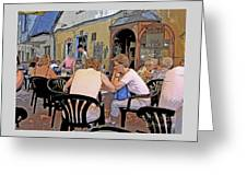 Outside Seating Greeting Card