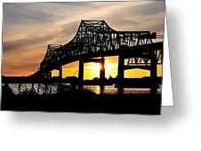 Over The Mississippi Greeting Card