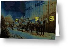 Overland Stage Raiders Homage 1938 Stagecoach 1894-2009 Greeting Card