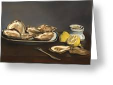 Oysters Greeting Card