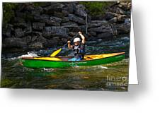 Paddler In A Whitewater Canoe Greeting Card