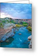 Painted River Gorge Greeting Card by Sarah Crites