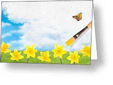 Painting Daffodils Greeting Card