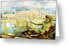 Palace And Park Of Versailles Greeting Card