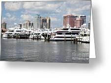 Palm Beach Docks Greeting Card