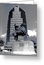 Pancho Villa Statue Downtown Tucson Arizona 1988-2008  Greeting Card