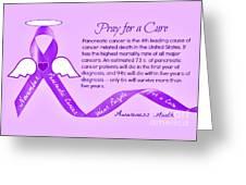 Pancreatic Cancer Awareness Greeting Card