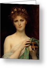 Pandora Greeting Card by Alexandre Cabanel