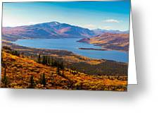 Panorama Of Fish Lake Yukon Territory Canada Greeting Card