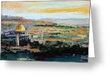 Panorama Of Jerusalem Greeting Card