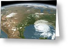 Panoramic View Of Planet Earth Greeting Card