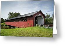Paper Mill Covered Bridge Greeting Card
