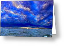 Paradise Is Blue Greeting Card