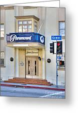Paramount Movie Studio Hollywood Ca Greeting Card