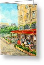Paris Cafe Greeting Card