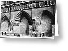 Paris Notre Dame, 1918 Greeting Card