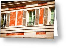 Paris Windows Greeting Card