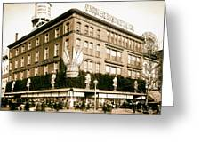Parker Bridget And Company Department Store - Washington Dc 1921 Greeting Card