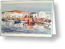 Paros-naousa Greeting Card by George Siaba