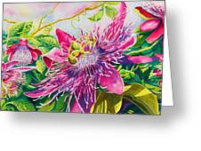 Passionflower Party Greeting Card