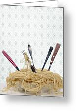 Pasta For Five Greeting Card by Joana Kruse